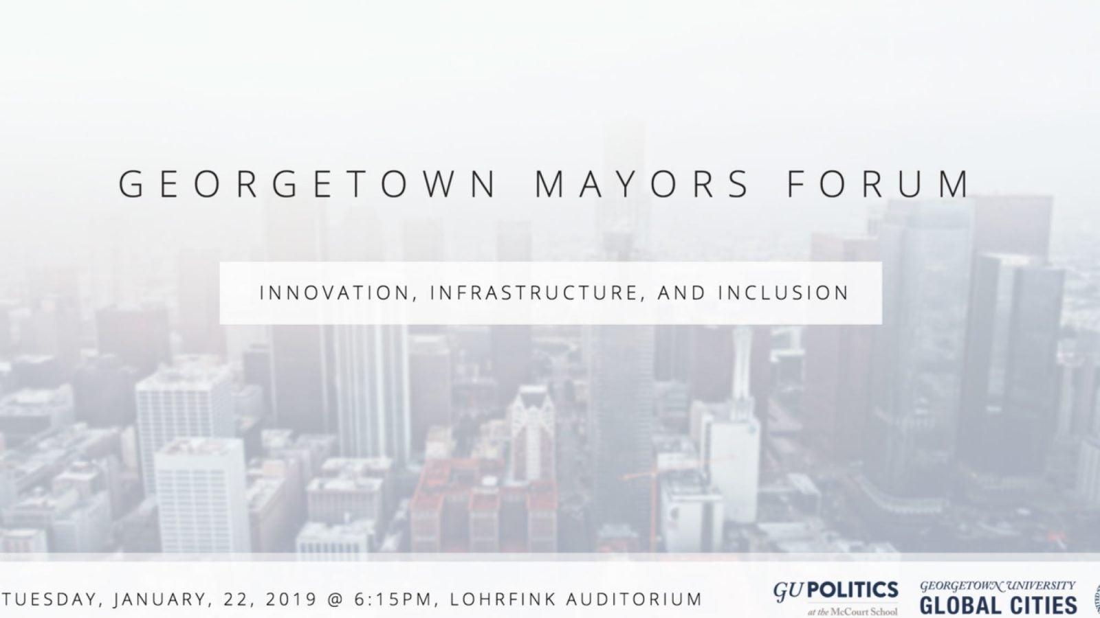 Georgetown Mayors Forum logo