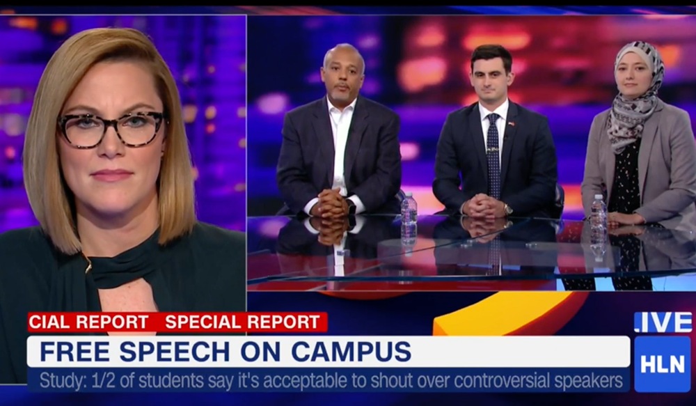 """Mo Elleithee and two GU Politics students appeared on """"Unfiltered"""" with S.E. Cupp"""