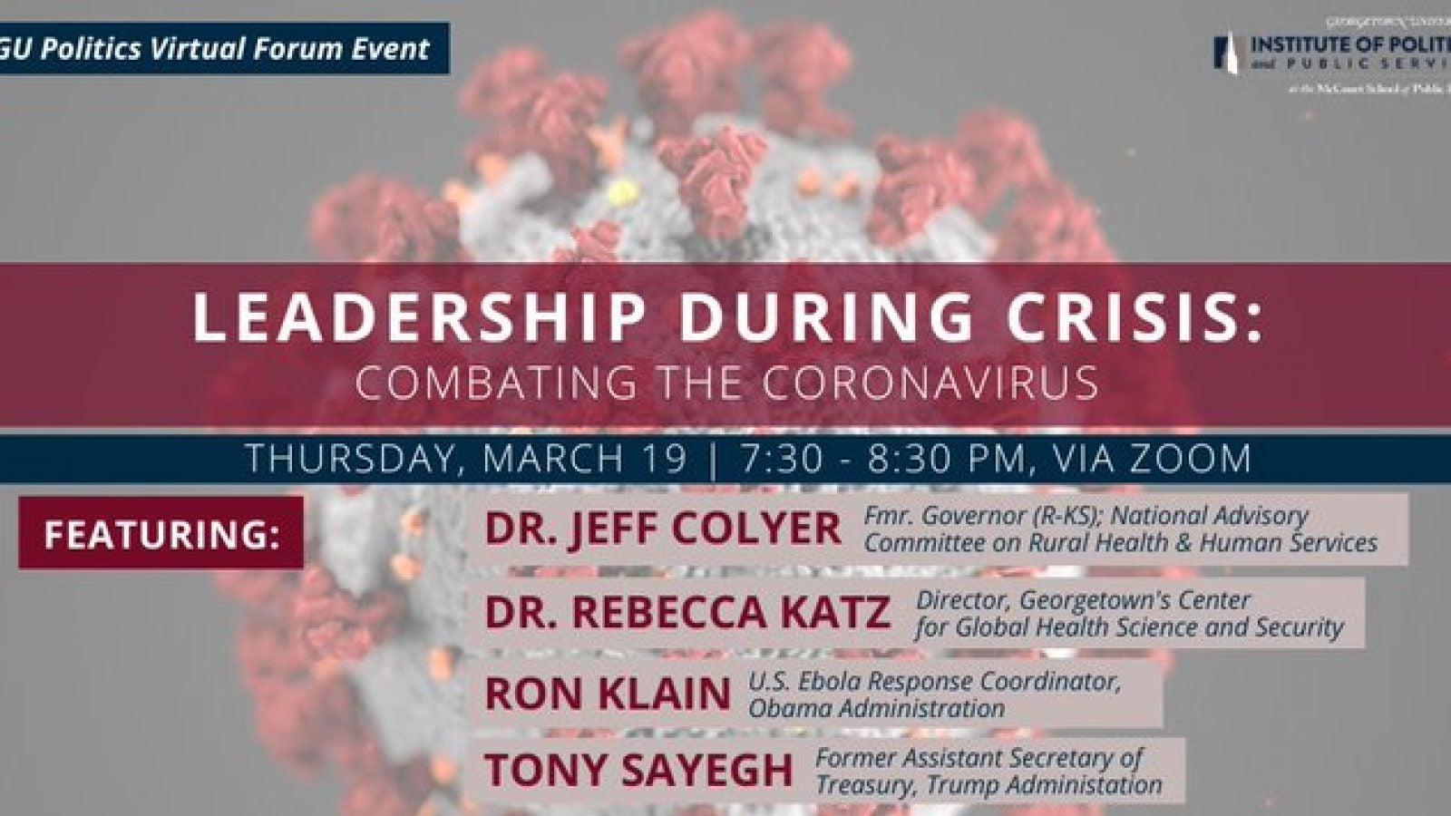 Leadership During Crisis: Combating the Coronavirus (graphic)