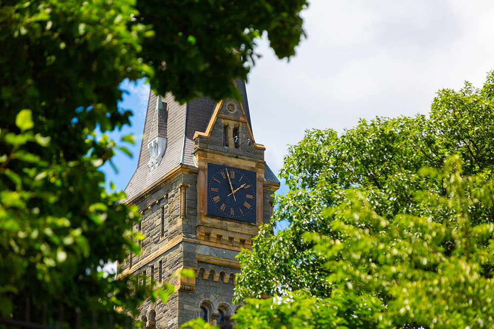 View of Healy clock tower