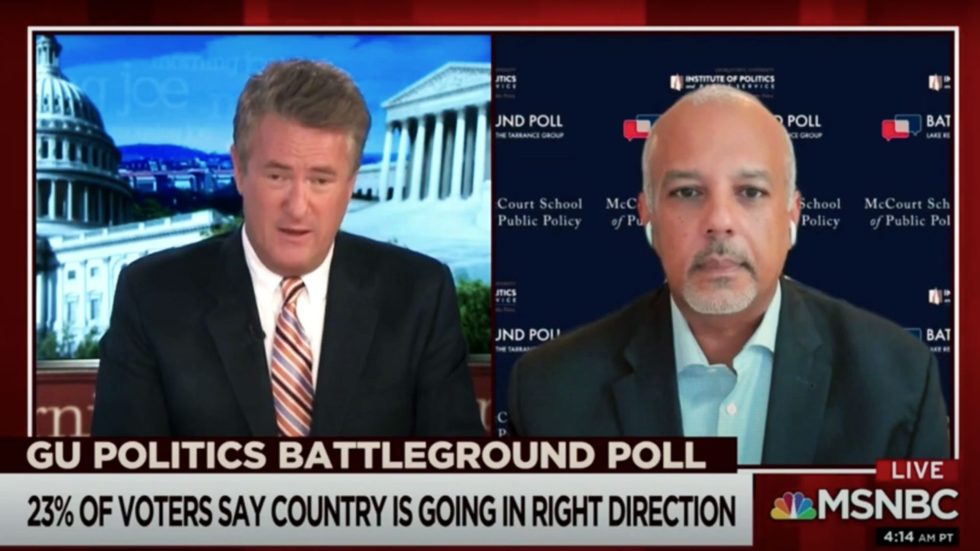 GU Politics Executive Director Mo Elleithee broke down the major findings from our August 2020 Battleground Poll on Morning Joe.